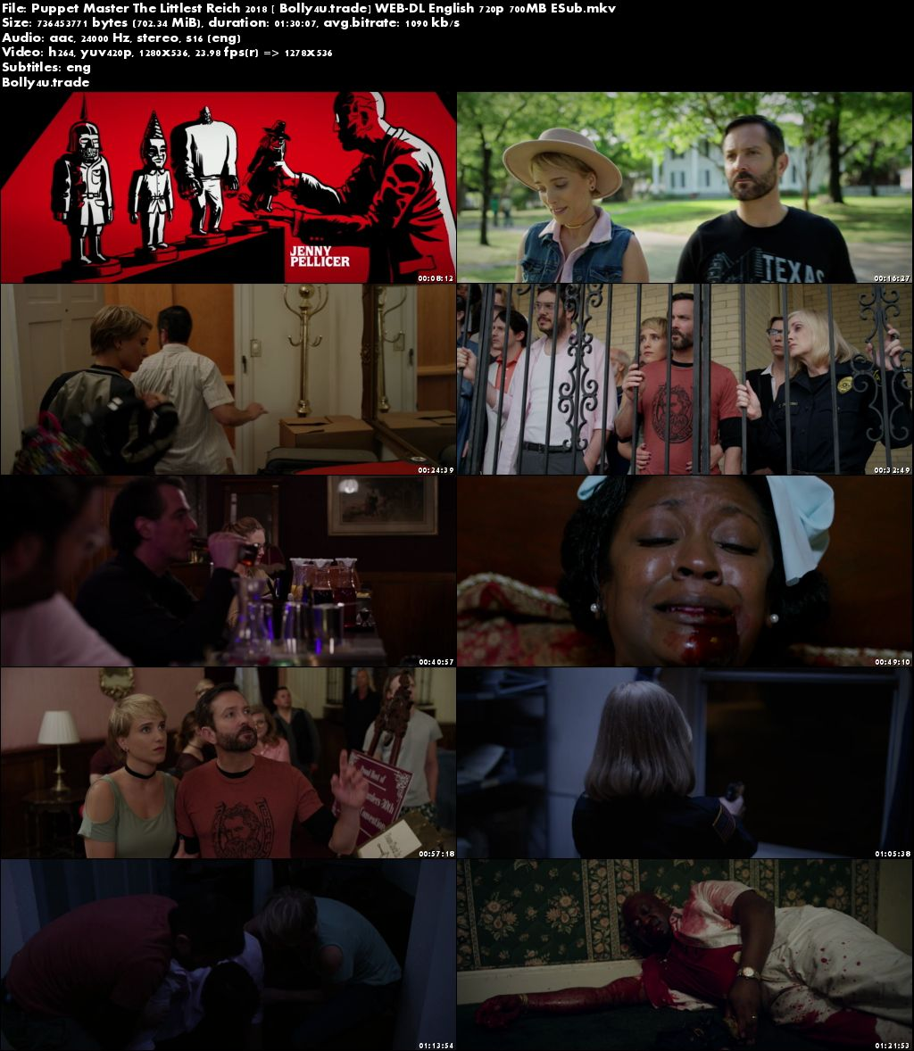 Puppet Master The Littlest Reich 2018 WEB-DL 700MB English 720p ESub Download