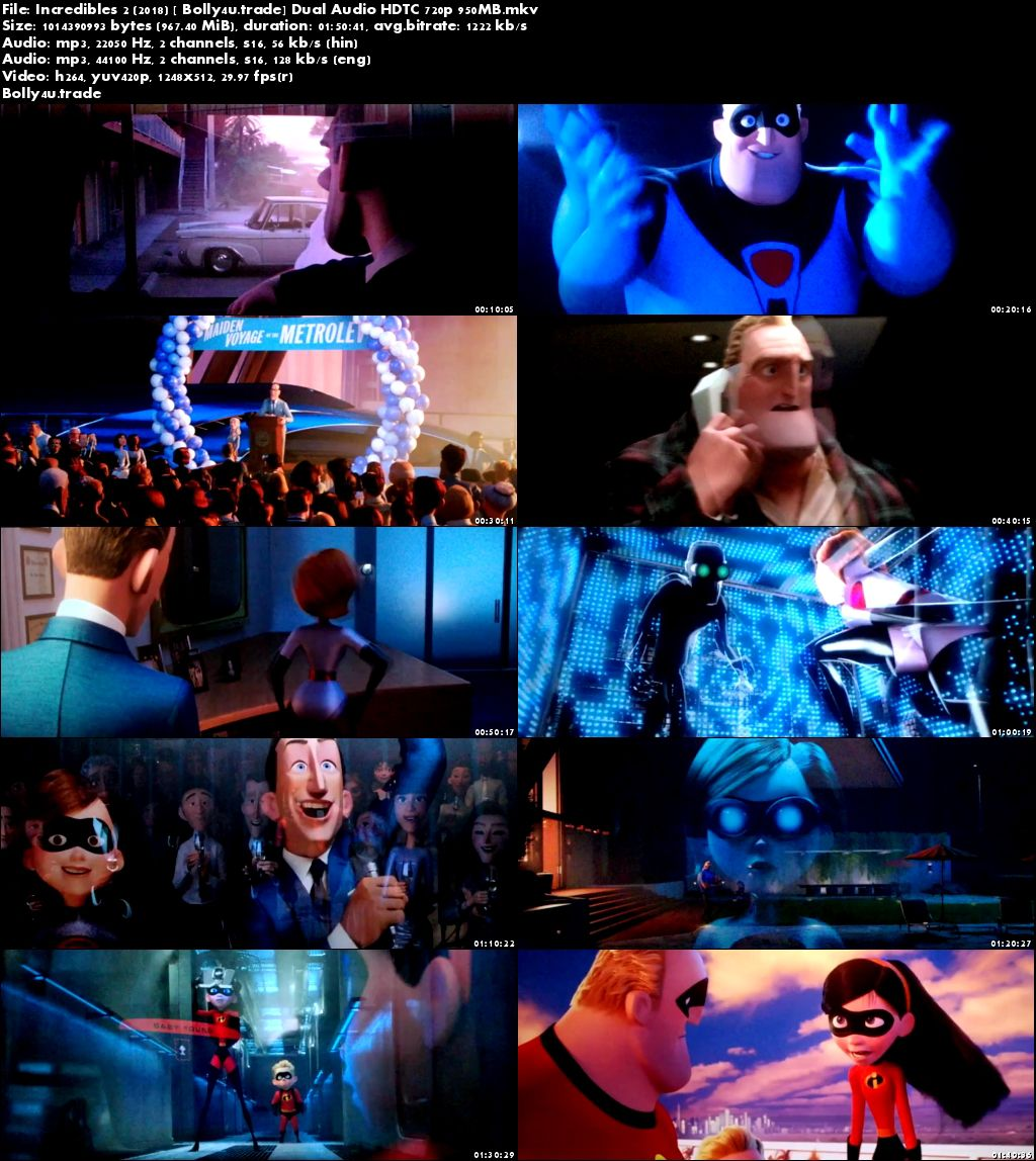 Incredibles 2 2018 HDTC 950MB Hindi Dual Audio 720p Download