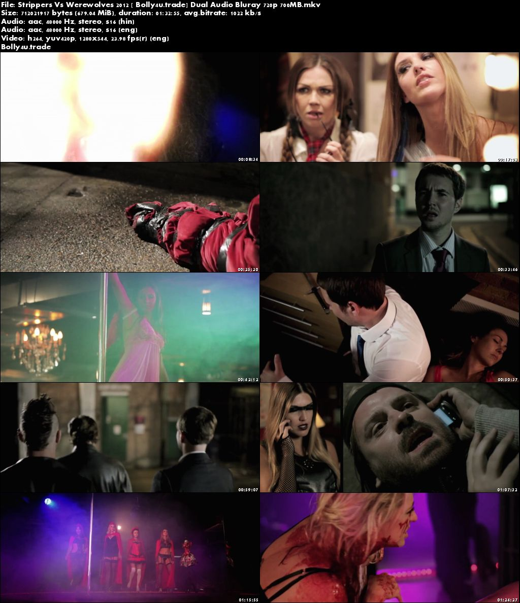 Strippers Vs Werewolves 2012 BluRay 700MB Hindi Dual Audio 720p Download