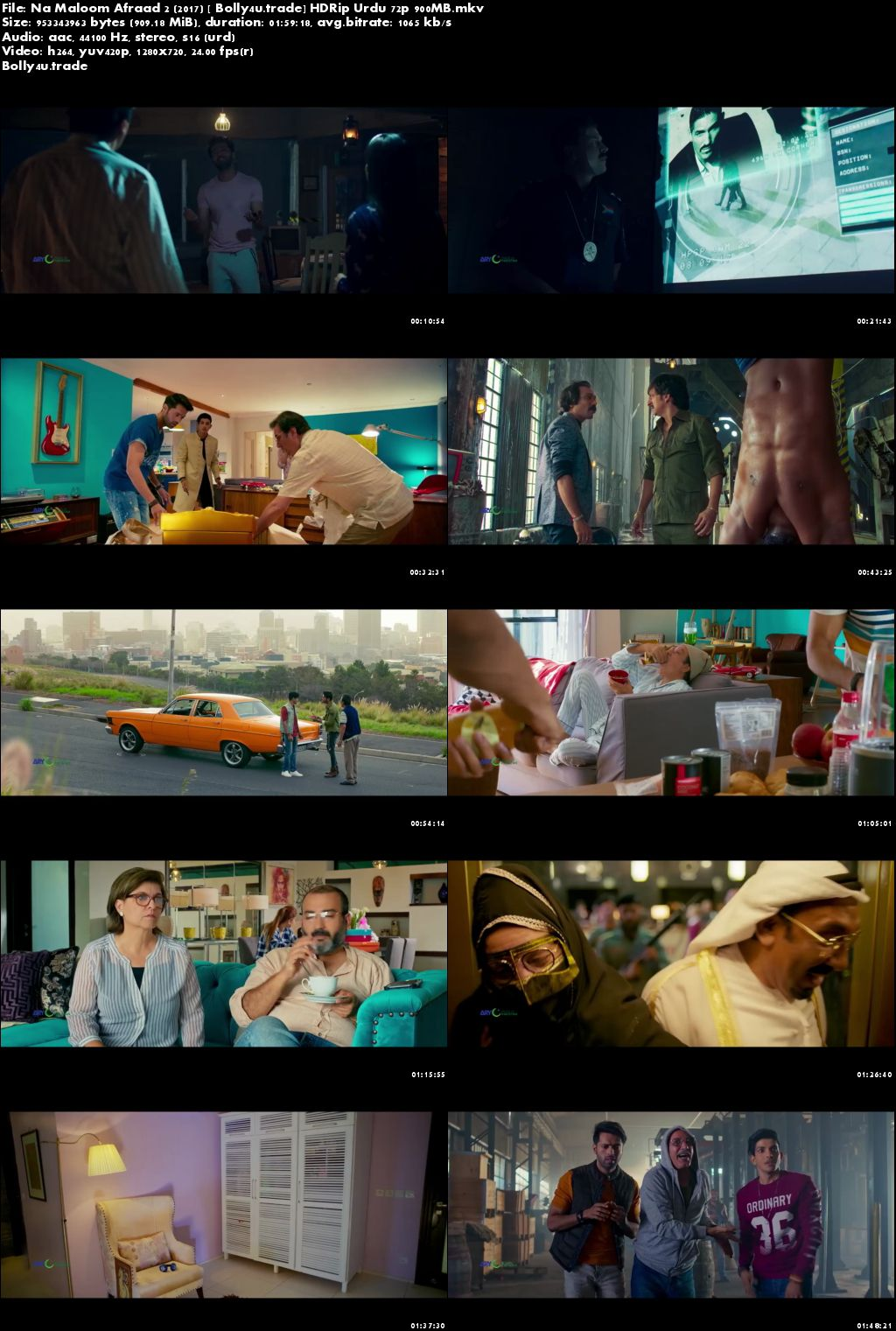 Na Maloom Afraad 2 2018 HDRip 900Mb Urdu 720p Download