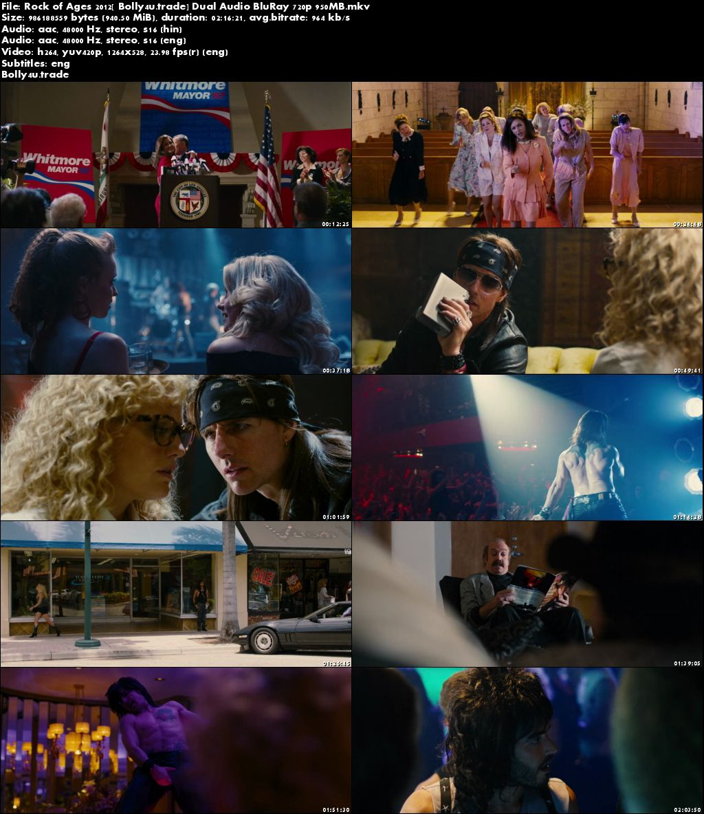 Rock of Ages 2012 BluRay 950Mb Hindi Dual Audio 720p Download