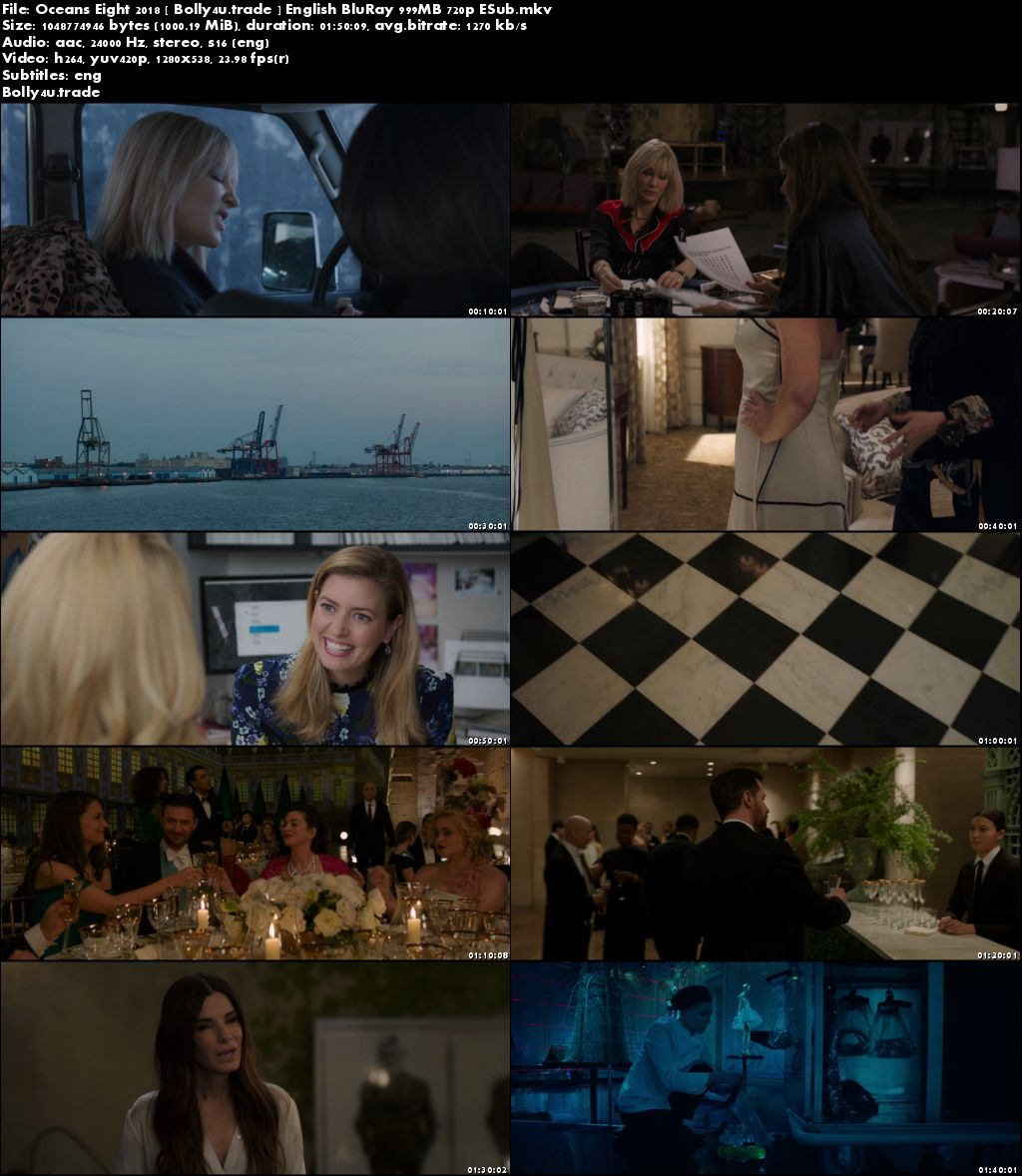 Oceans Eight 2018 BluRay 999Mb English 720p ESub Download