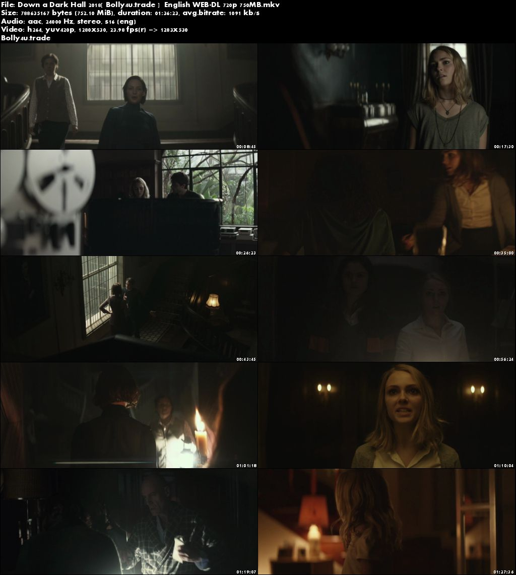 Down a Dark Hall 2018 WEB-DL 280MB Full English Movie Download 480p