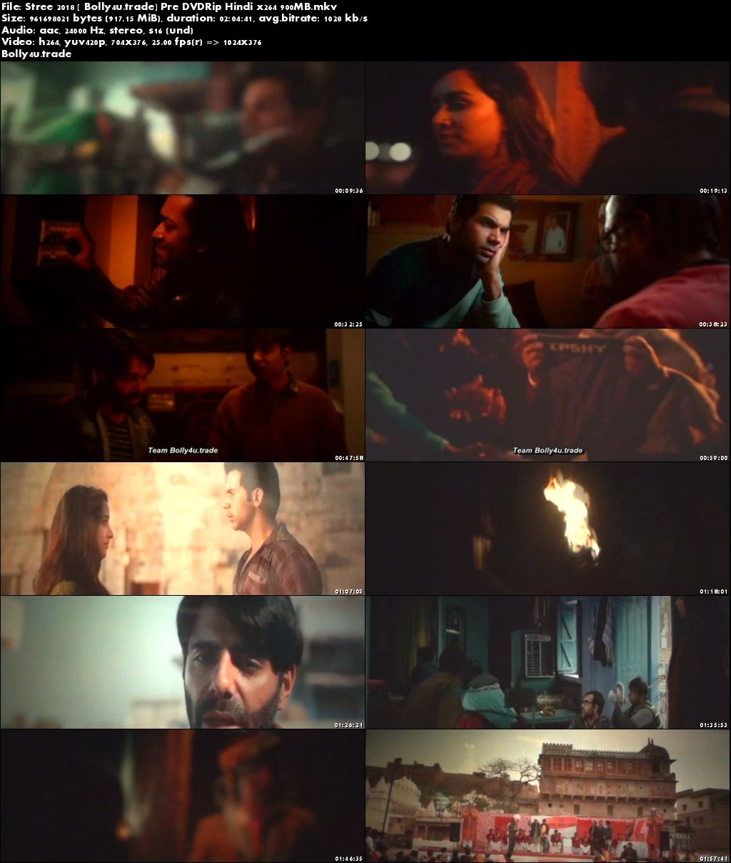 Stree 2018 Pre DVDRip 350Mb Full Hindi Movie Download 480p
