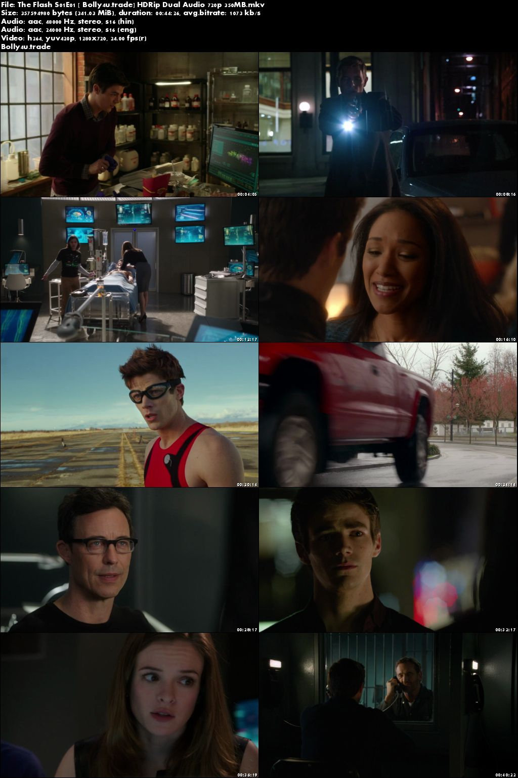 The Flash S01E01 BluRay 350MB Hindi Dual Audio 720p Download