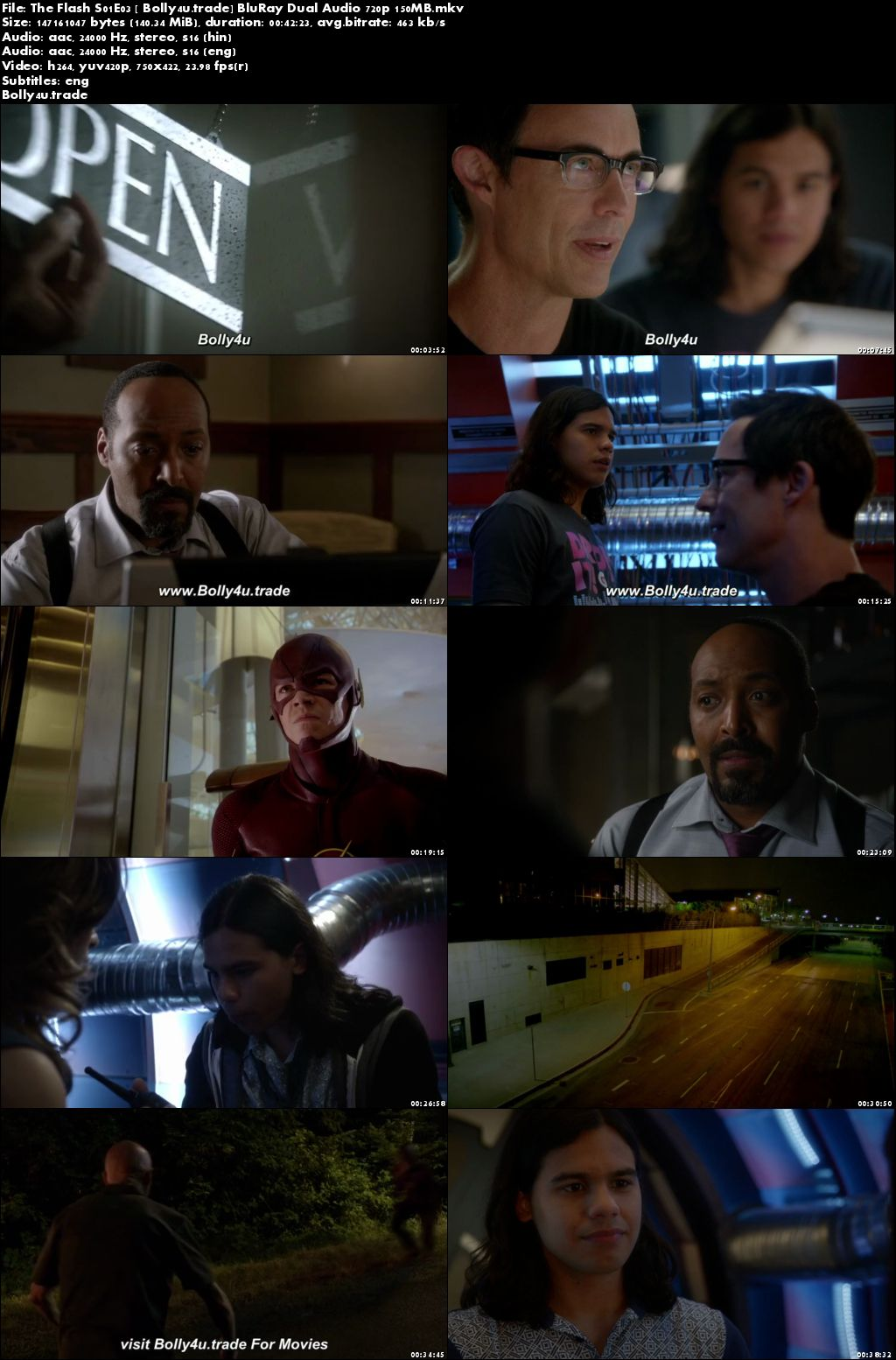 The Flash S01E03 BluRay 150MB Hindi Dual Audio 480p Download