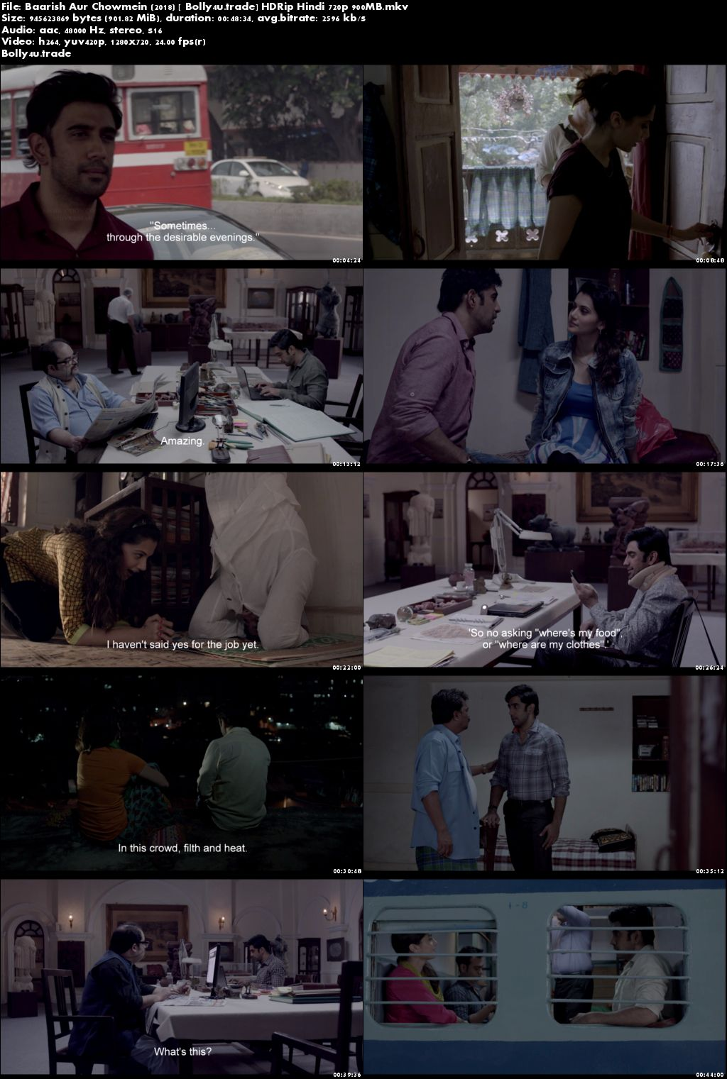 Baarish Aur Chowmein 2018 HDRip 900MB Full Hindi Movie Download 720p