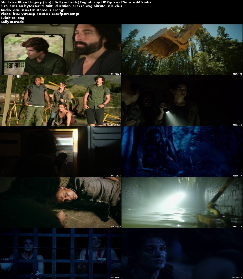 Lake Placid Legacy 2018 HDRip 800Mb Full English Movie Download 720p ESub