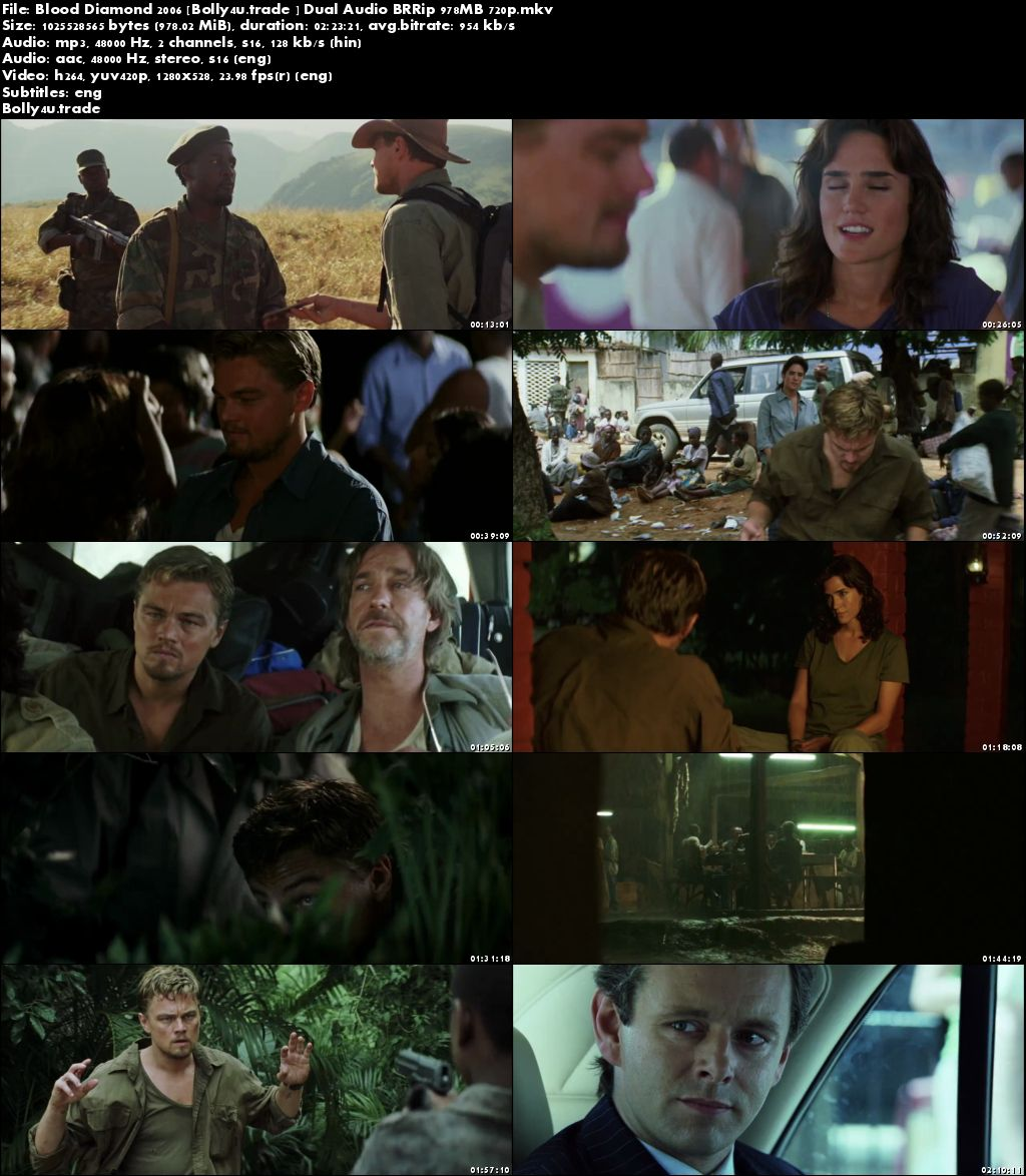 Blood Diamond 2006 BluRay 900MB Hindi Dubbed Dual Audio 720p Download