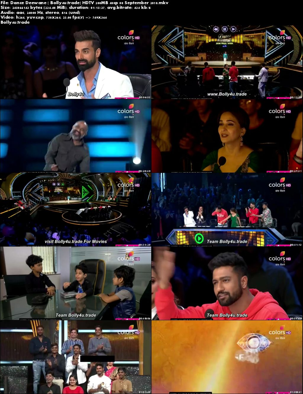 Dance Deewane HDTV 200MB 480p 08 September 2018 Download