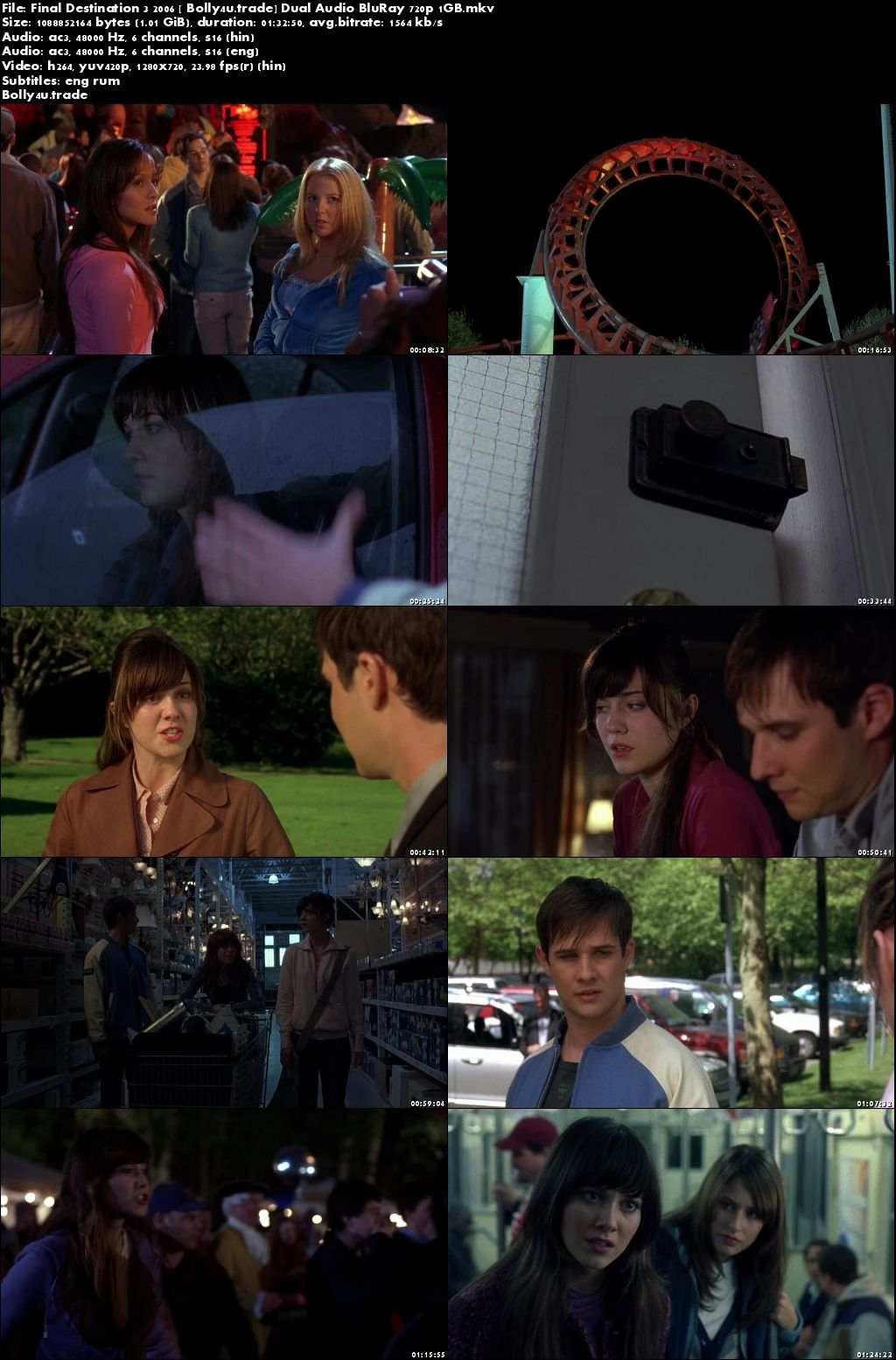 Final Destination 3 2006 BluRay 1GB Hindi Dual Audio 720p Download