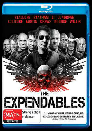 The Expendables 2010 BRRip 350Mb Hindi Dual Audio 480p