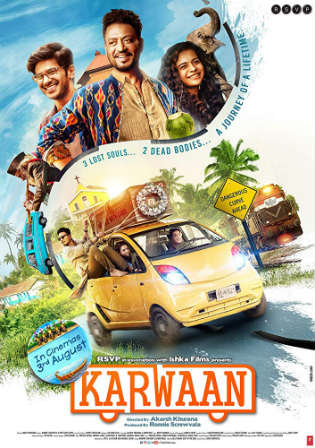 Karwaan 2018 HDRip 300Mb Full Hindi Movie Download 480p Watch Online Free bolly4u