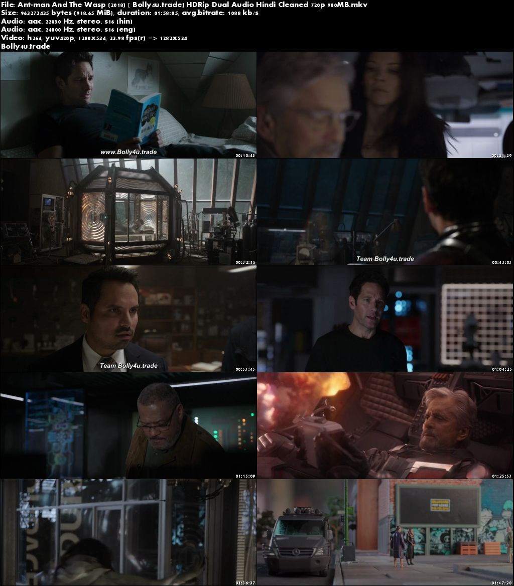 Ant-man And The Wasp 2018 HDRip 900MB Hindi Cleaned Dual Audio 720p Download