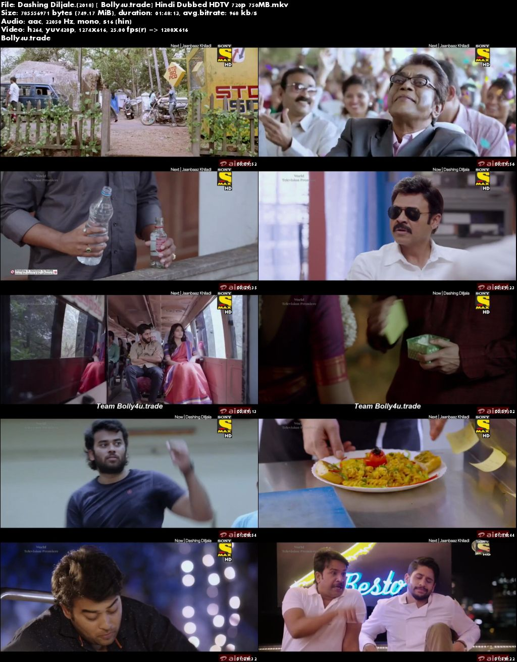 Dashing Diljale 2018 HDTV 300Mb Full Hindi Dubbed Movie Download 480p