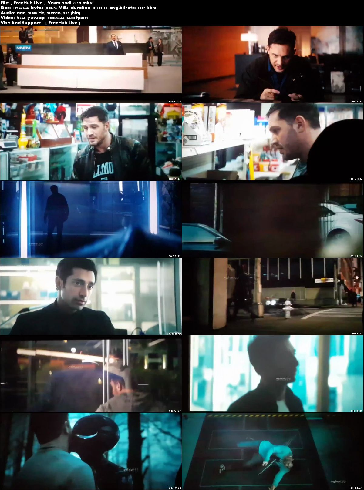 Watch Online Venom 2018 Movie Download HDTS 800MB Hindi Dubbed 720p Full Movie Download 9xmovies