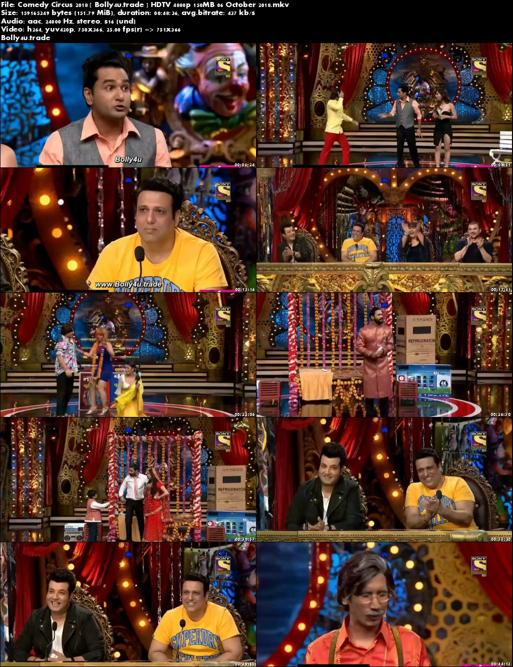 Comedy Circus 2018 HDTV 4880p 150MB 06 October 2018 Download