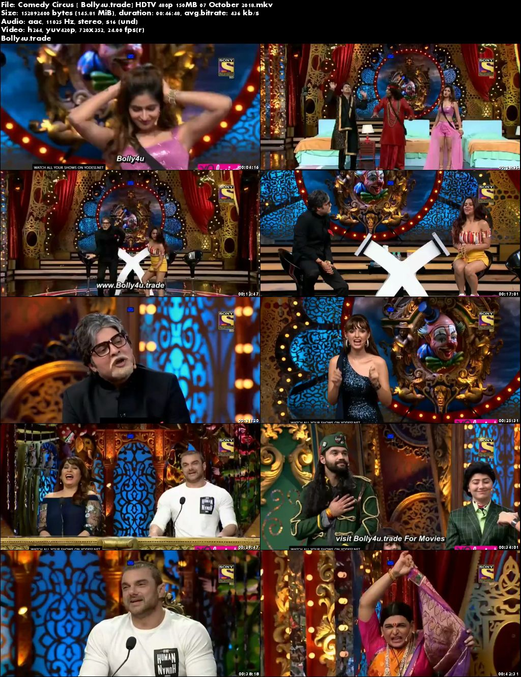 Comedy Circus HDTV 480p 150MB 07 October 2018 Download