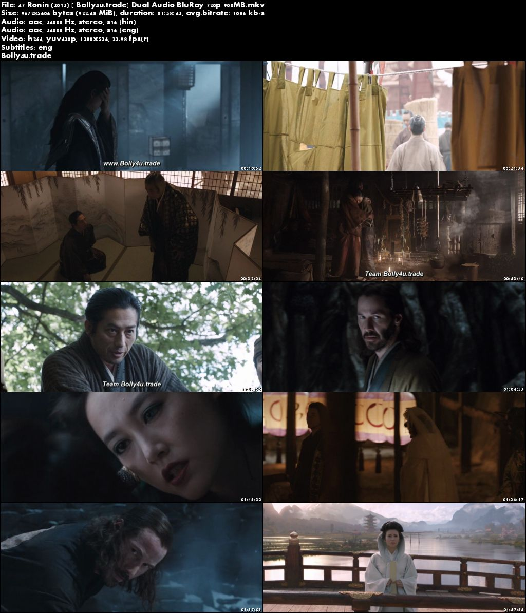 47 Ronin 2013 BluRay 900MB Hindi Dubbed Dual Audio 720p Download