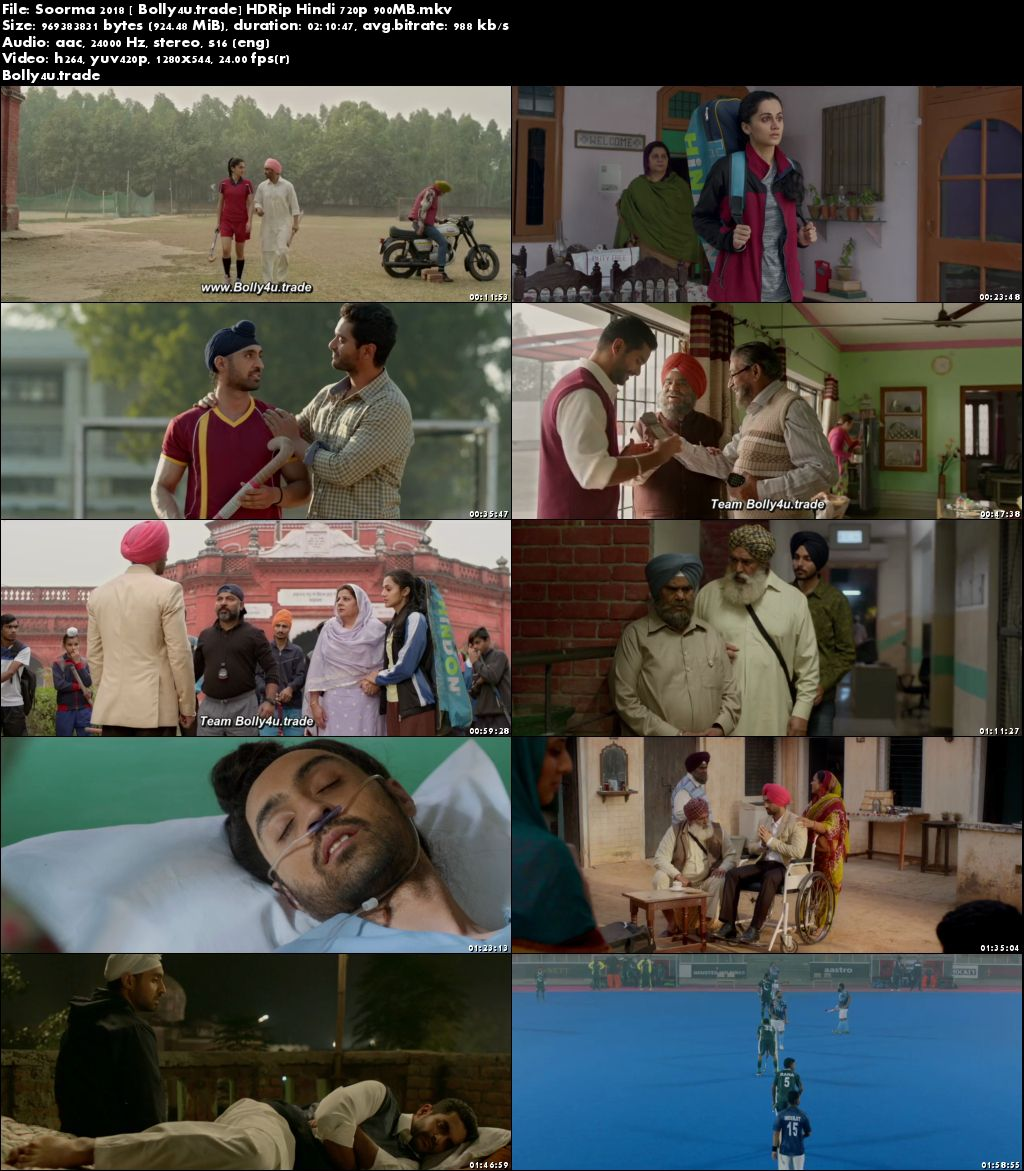 Soorma 2018 HDRip 900Mb Full Hindi Movie Download 720p