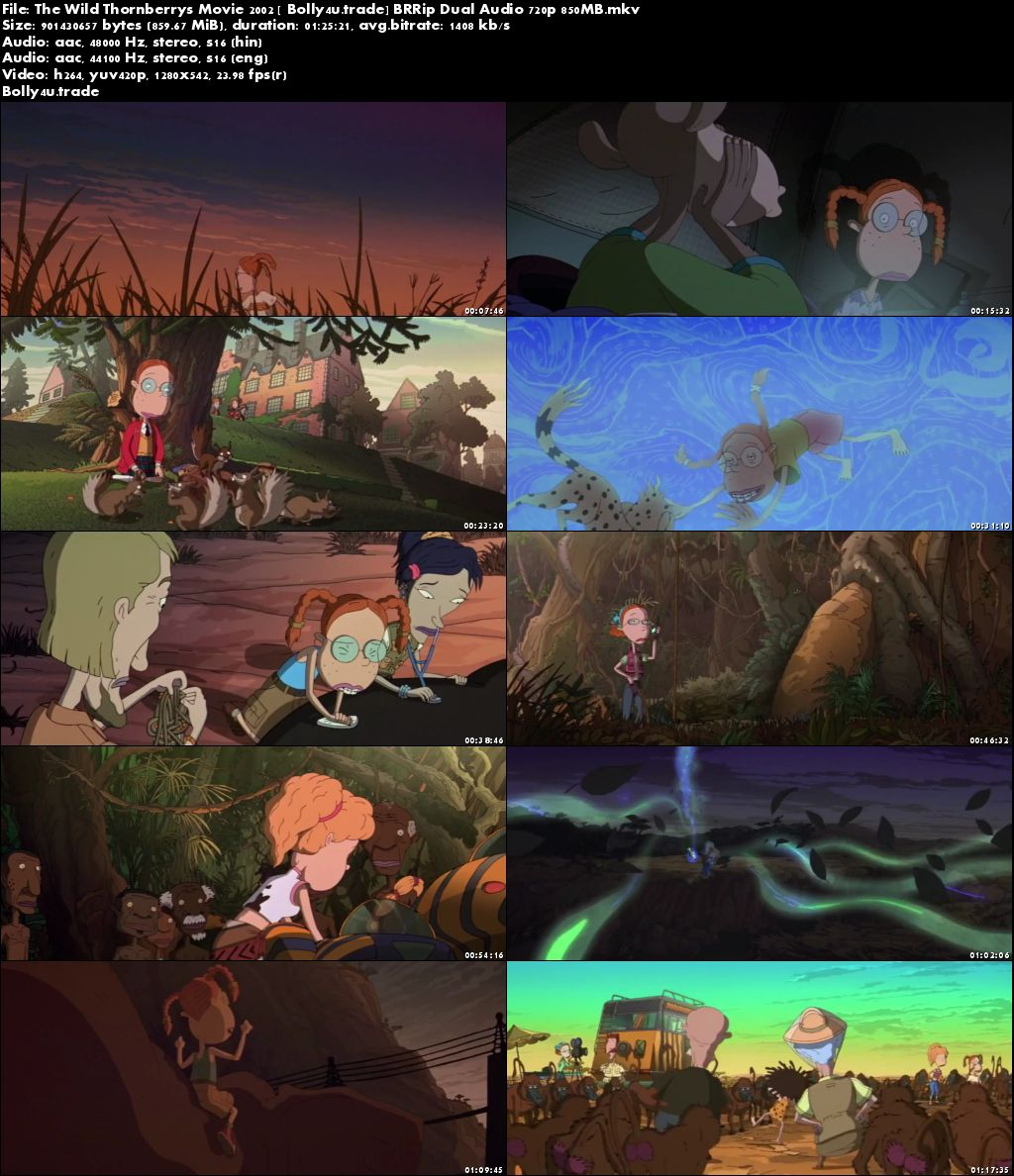 The Wild Thornberrys Movie 2002 WEB-DL 850Mb Hindi Dual Audio 720p Download