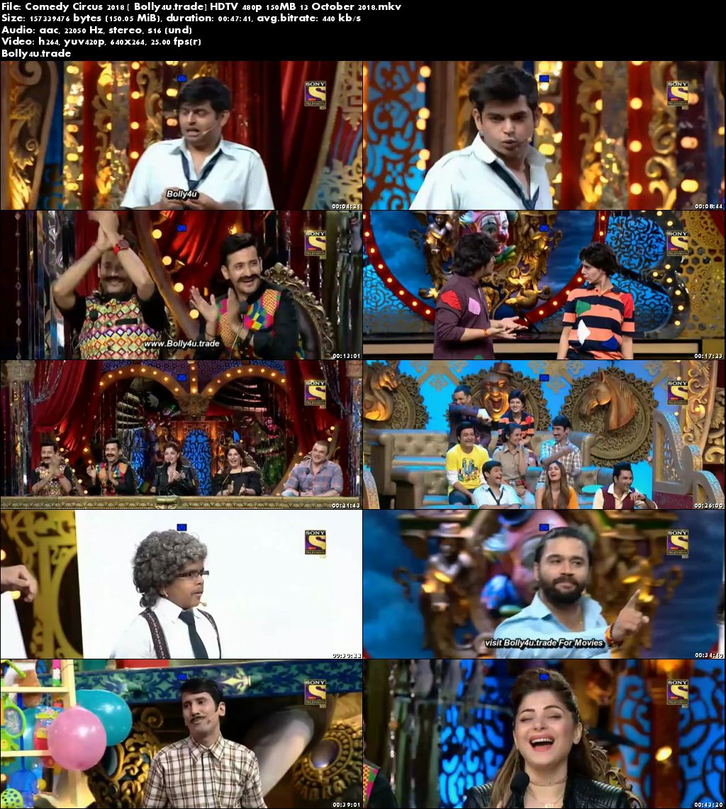 Comedy Circus 2018 HDTV 480p 150MB 13 October 2018 Download