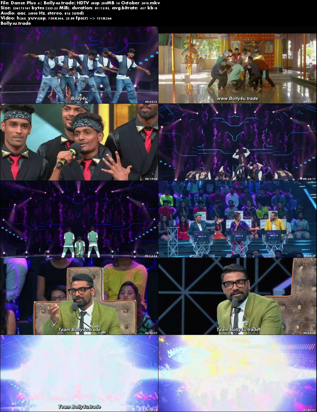 Dance Plus Season 4 HDTV 480p 200MB 480p 14 October 2018 Download