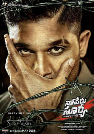 Naa Peru Surya Na Illu India 2018 HDRip 500MB UNCUT Hindi Dual Audio 480p Watch Online Full Movie Download Bolly4u