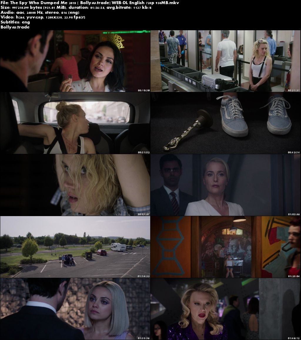 The Spy Who Dumped Me 2018 WEB-DL 950MB English 720p ESub Download