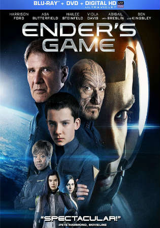 Enders Game 2013 BRRip 300Mb Hindi Dual Audio 480p