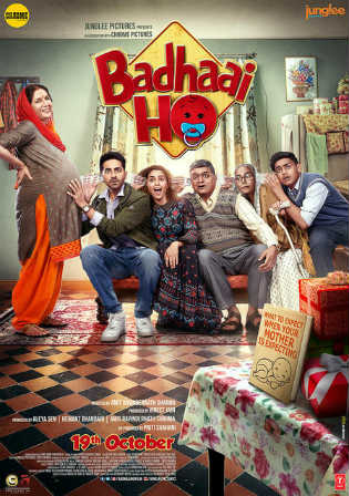 Badhaai Ho 2018 Pre DVDRip 600Mb Full Hindi Movie Download x264