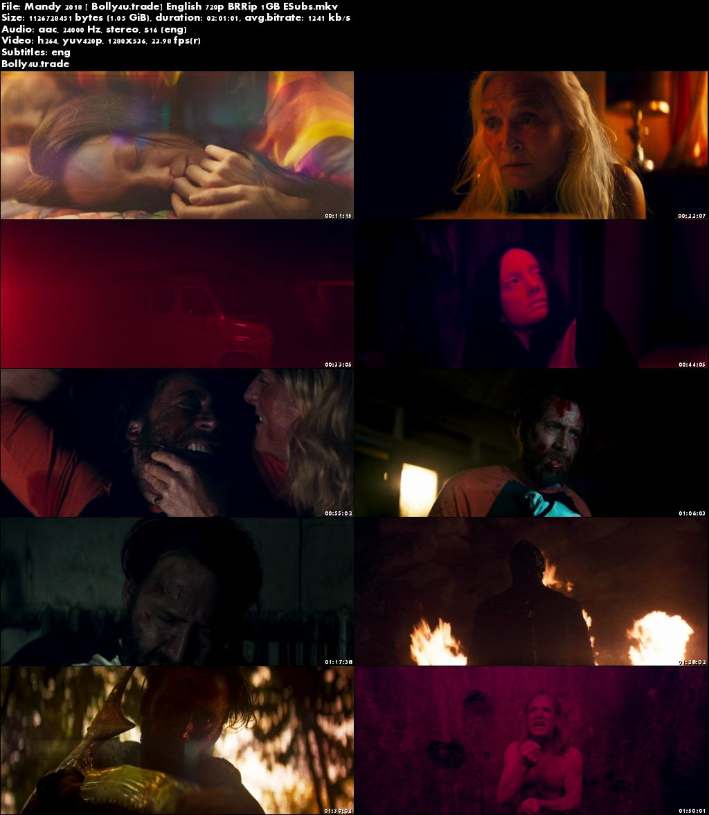 Mandy 2018 BRRip 350MB English 480p ESubs Download