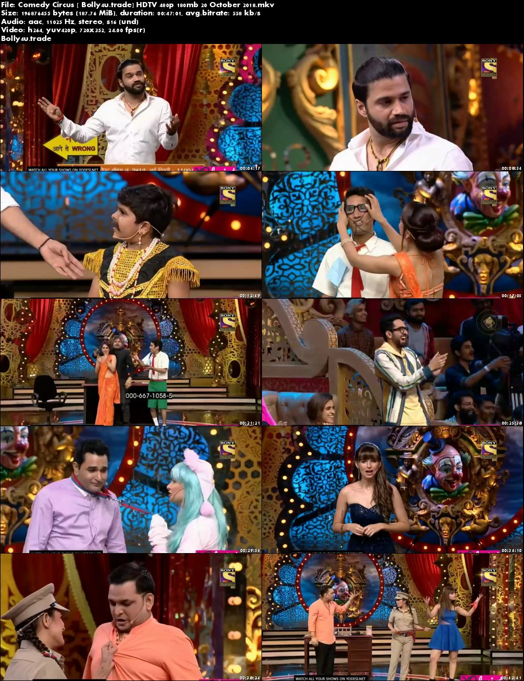Comedy Circus HDTV 480p 150Mb 20 October 2018 Download