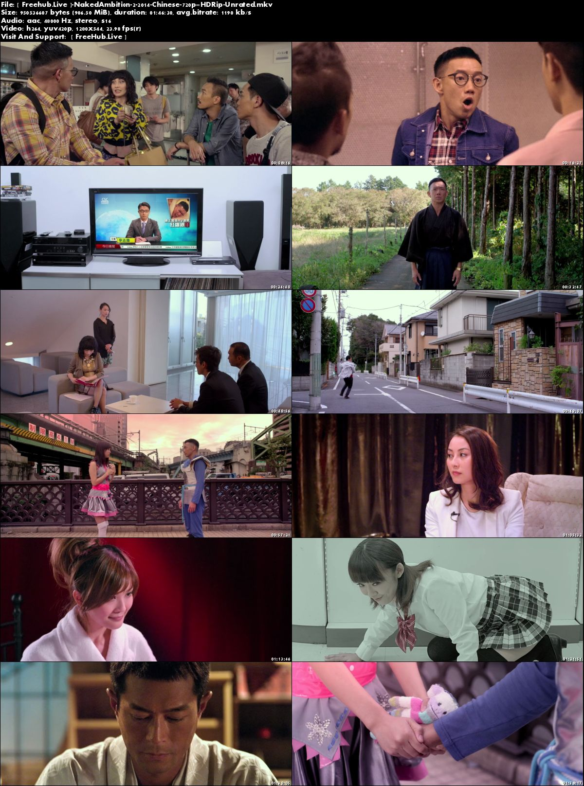 Watch Online Naked Ambition 2 2014 Movie Chinese 900MB HDRip 720p Full Movie Download 7starhd