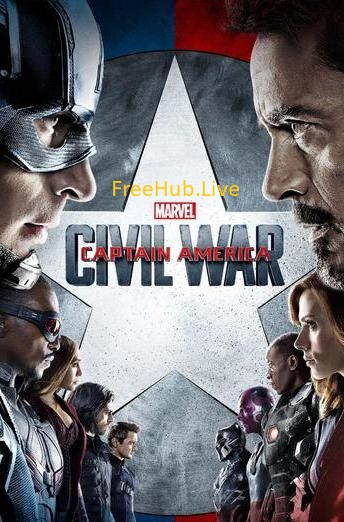 Captain America Civil War 2016 Hindi BluRay Dual Audio Esub 450MB