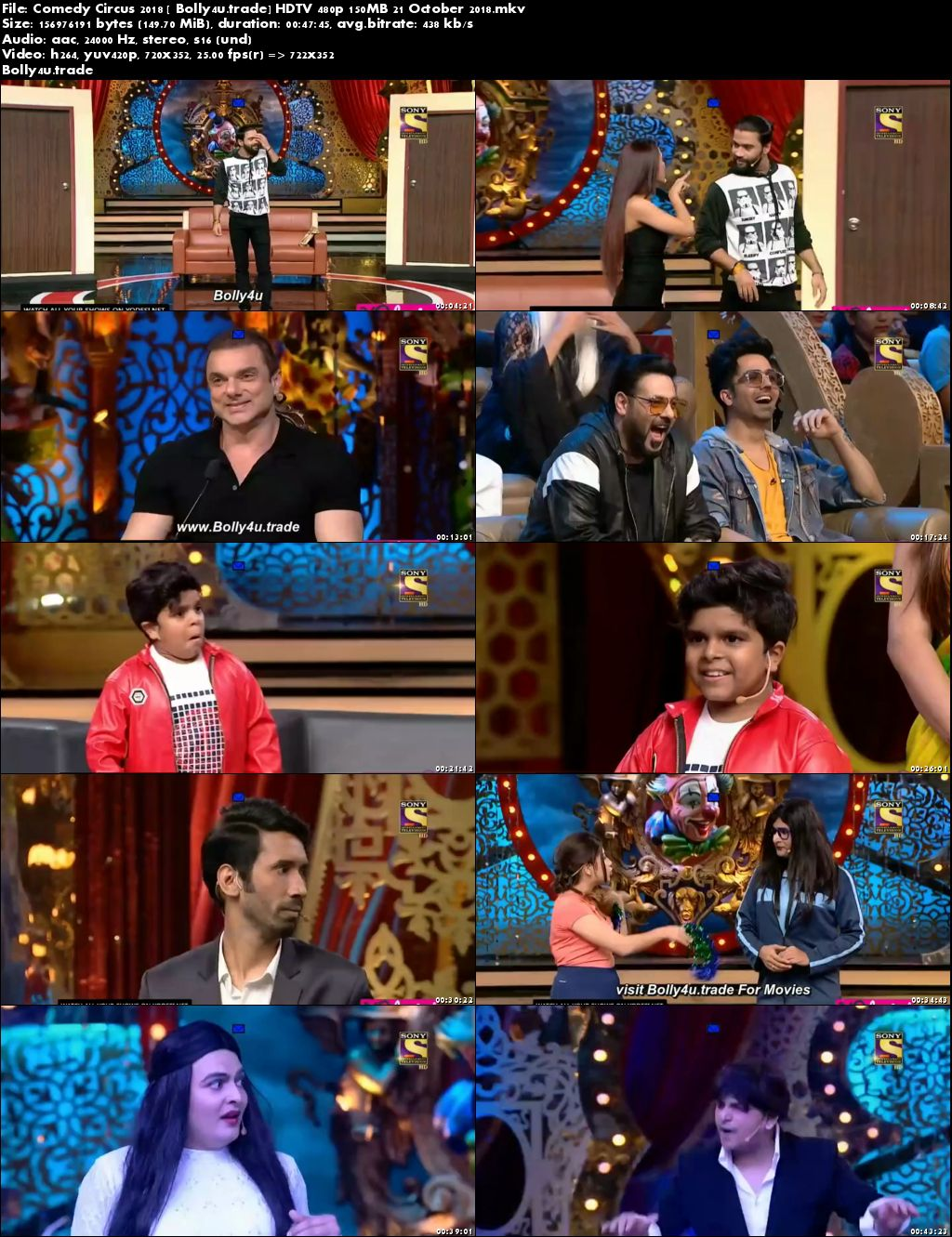 Comedy Circus 2018 HDTV 480p 150MB 21 October 2018 Download