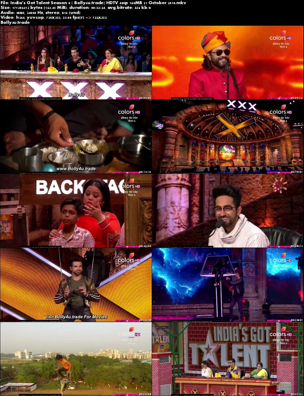 Indias Got Talent Season 8 HDTV 480p 160MB 21 October 2018 Download