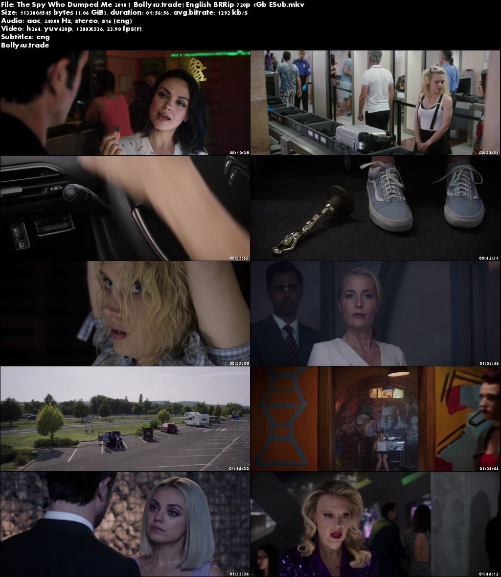 The Spy Who Dumped Me 2018 BRRip 1GB English 720p ESub Download