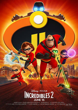 Incredibles 2 2018 WEB-DL 400Mb Hindi Dual Audio 480p ESub Watch online Full Movie Download Bolly4u