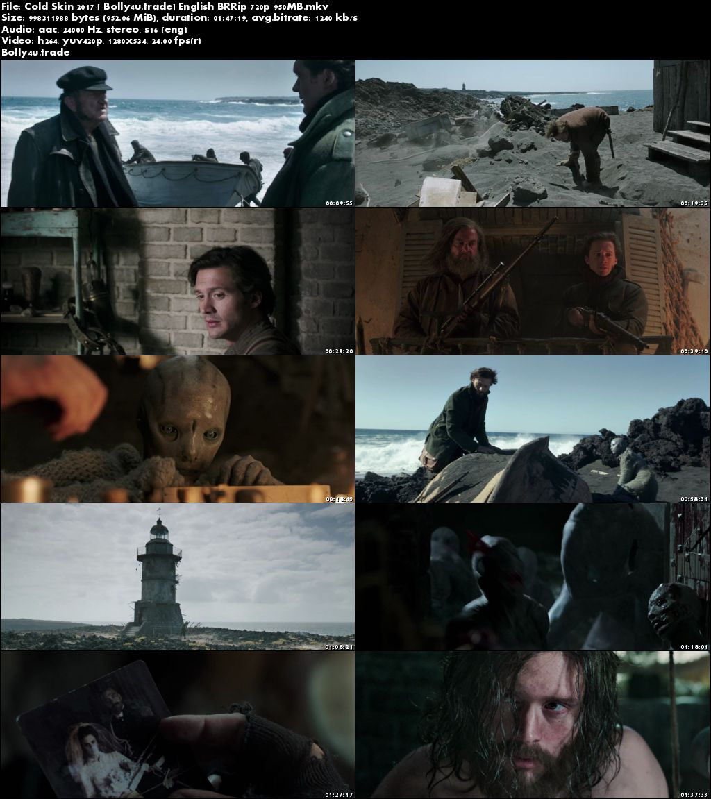 Cold Skin 2017 BRRip 300MB English 480p Download
