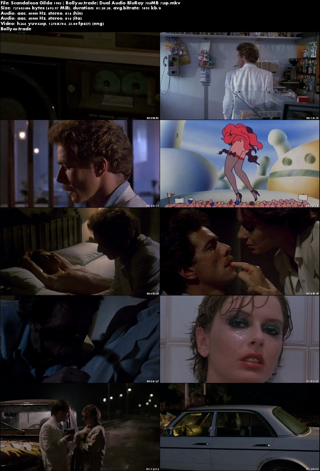 [18+] Scandalosa Gilda 1985 BRRip 300MB Hindi Dual Audio 480p Download