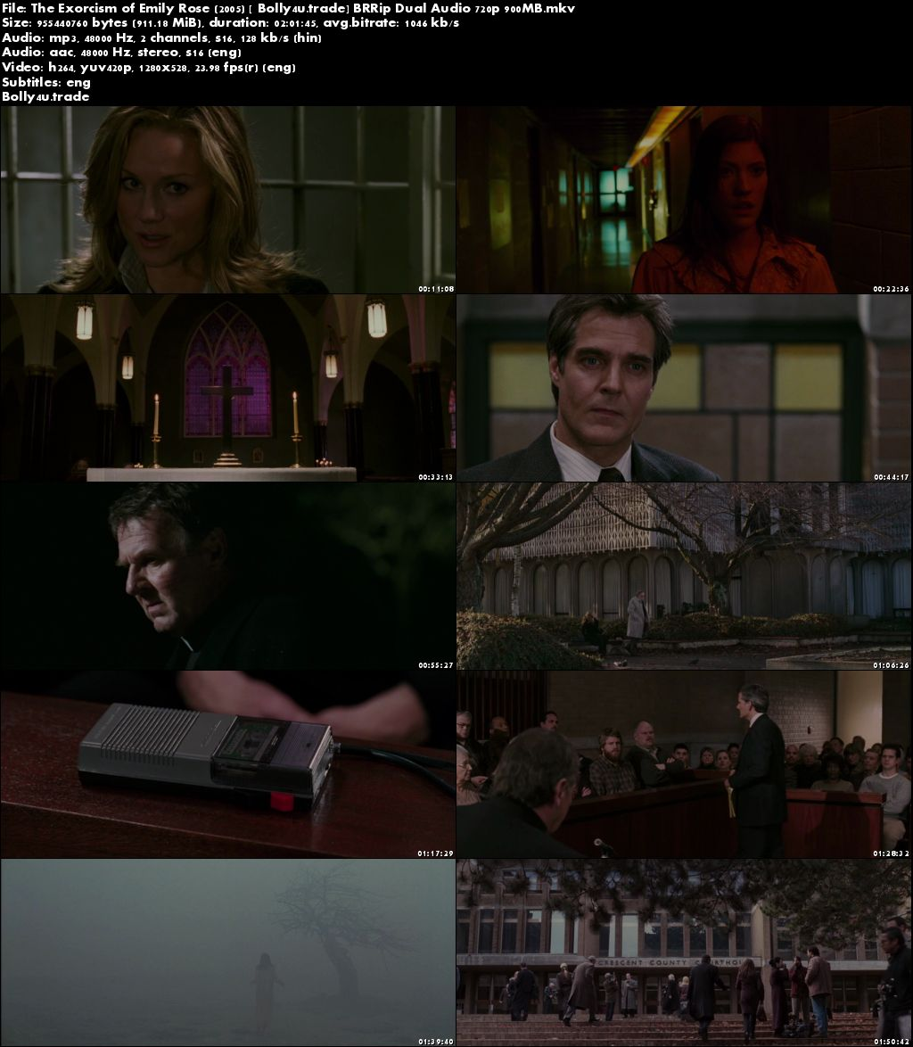 The Exorcism of Emily Rose 2005 BRRip 900MB Hindi Dual Audio 720p Download