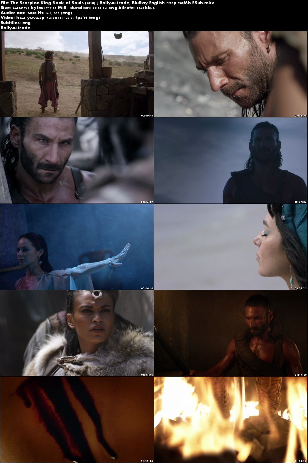 The Scorpion King Book of Souls 2018 BRRip 300MB English 480p ESub Download