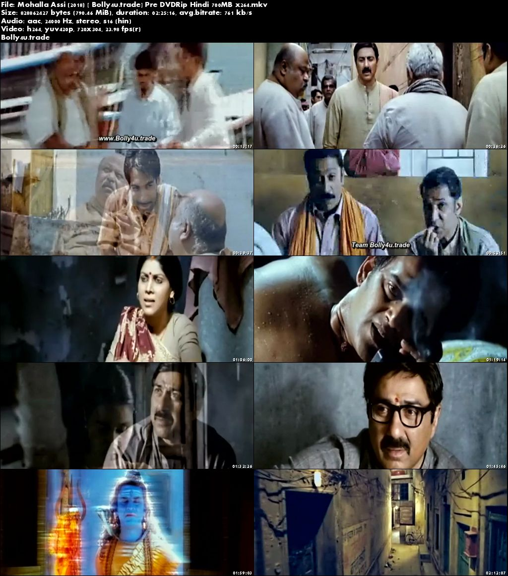 Mohalla Assi 2018 Pre DVDRip 300Mb Full Hindi Movie Download 480p