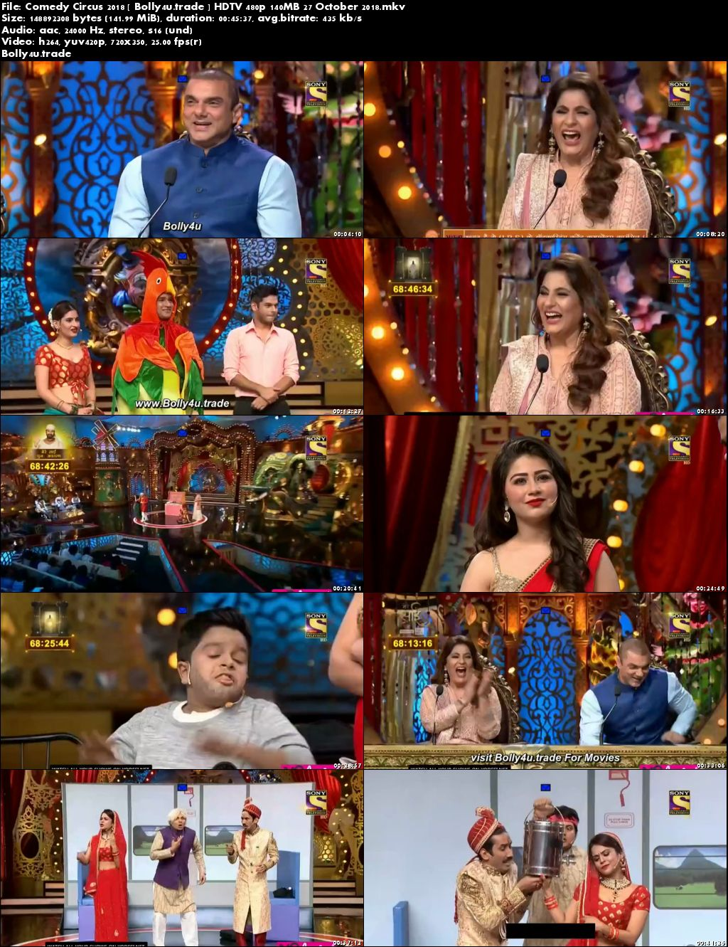 Comedy Circus 2018 HDTV 480p 150MB 27 October 2018 Download