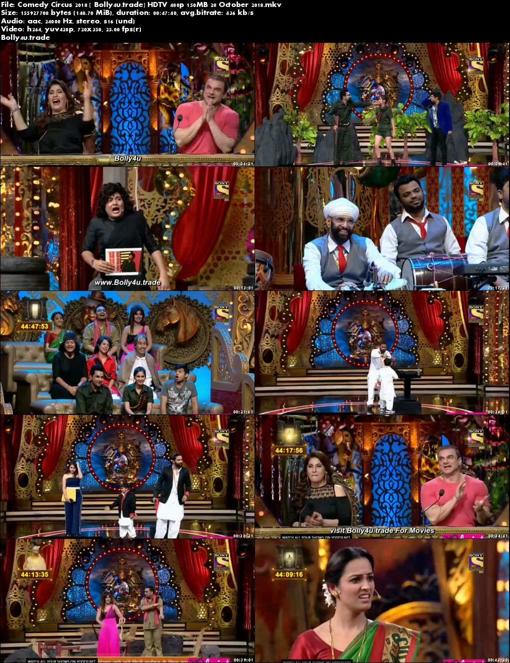 Comedy Circus 2018 HDTV 480p 150MB 28 October 2018 Download