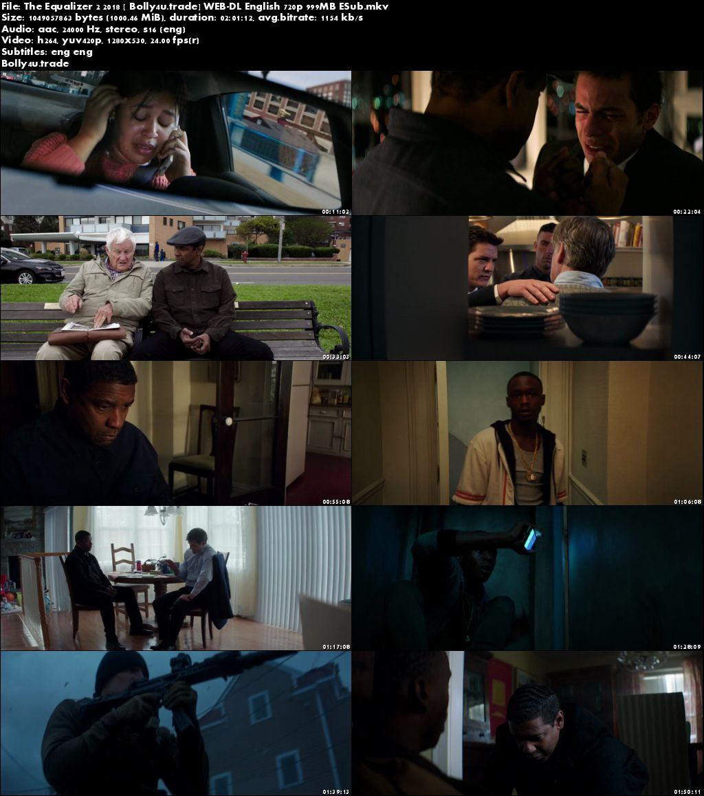 The Equalizer 2 2018 WEB-DL 999MB English 720p ESub Download
