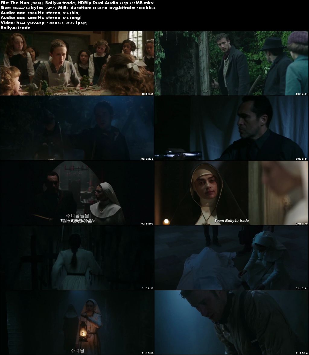 The Nun 2018 HDRip 300MB Hindi Dual Audio 480p Download