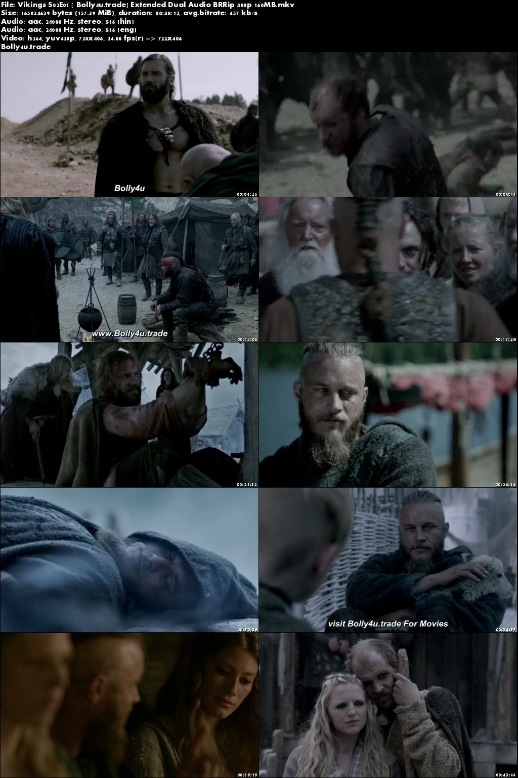 Vikings S02E01 BRRip 150MB Extended Hindi Dual Audio 480p Download