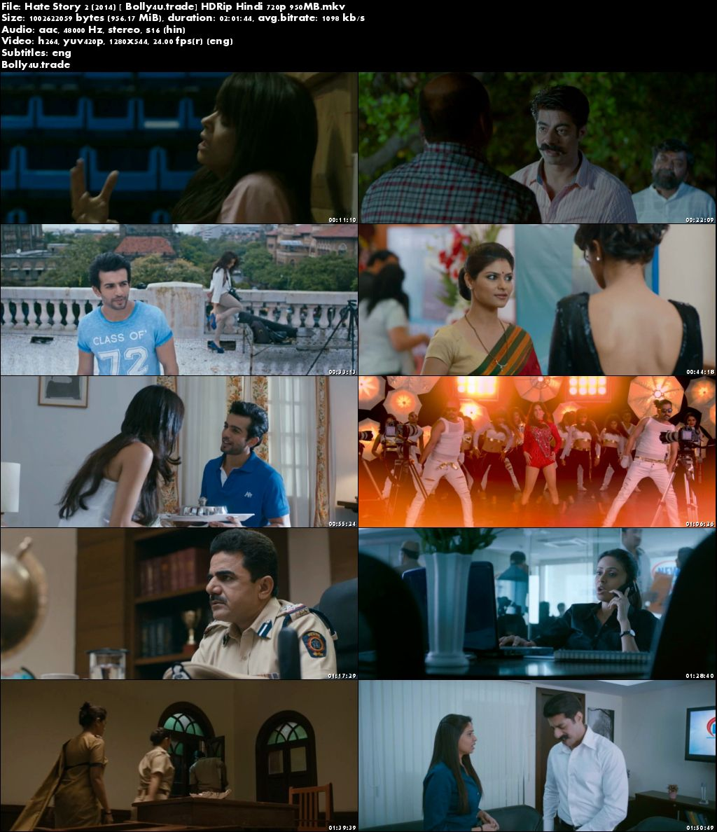 Hate Story 2 2014 HDRip 300Mb Full Hindi Movie Download 480p ESub
